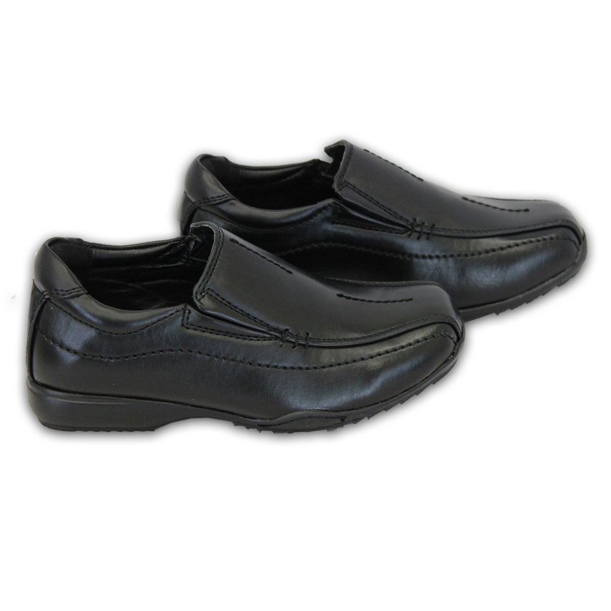 d9af8e5d8 Niño Escuela Zapatos Negros Los Niños Pequeños Mocasines De Vestir  Inteligentes Boda Casual Nuevo CLIPPERB - Negro