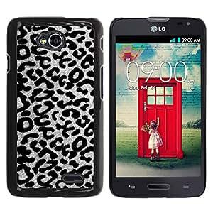 YOYOYO Smartphone Protección Defender Duro Negro Funda Imagen Diseño Carcasa Tapa Case Skin Cover Para LG Optimus L70 LS620 D325 MS323 - blanco modelo del guepardo del leopardo gris negro
