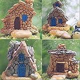 Buytra Fairy Garden Accessories Miniature Fairy Garden Stone House for Miniature Garden Ornaments Dollhouse Decor, Set of 4