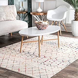 nuLOOM Moroccan Blythe Area Rug, 10' x 14', Light Multi