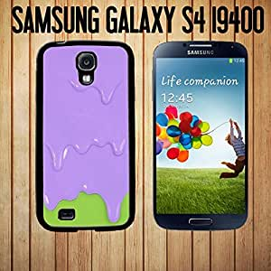 Purple Green Melting Ice Cream Custom made Case/Cover/Skin FOR Samsung Galaxy S4 -Black- Rubber Case (Ship From CA) by mcsharks