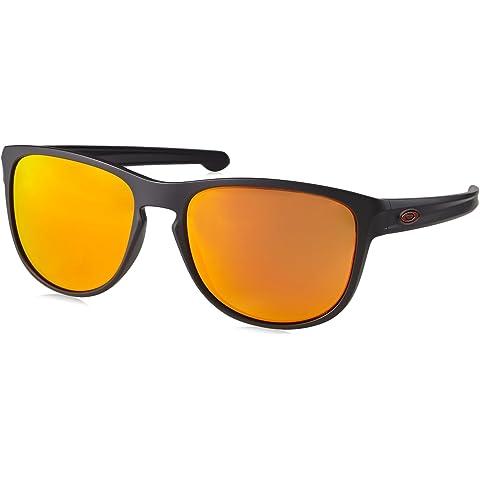 ccbdff1250 Oakley Men s Sliver R Iridium Rectangular Sunglasses MATTE BLACK 57 mm