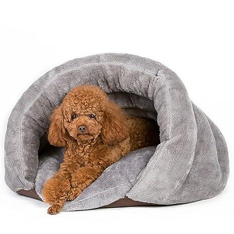 HOOPET Nueva Llegada Caliente Gato Sacos de Dormir Camas para Mascotas Medio Cubierta Nido de Invierno