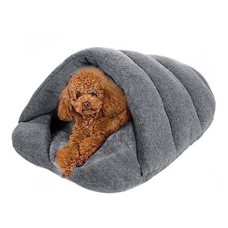 LA VIE Casa Adorable para Perro en Forma de Zapatilla Cama Nido Cómoda y Suave para Perro Sofá Cojín Colchoneta Saco de Dormir para Gatos Cachorros ...