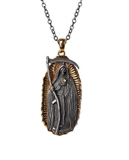Amazon pacific giftware santa muerte necklace mexican folklore pacific giftware santa muerte necklace mexican folklore saint of holy death necklace lead free alloy mozeypictures Images