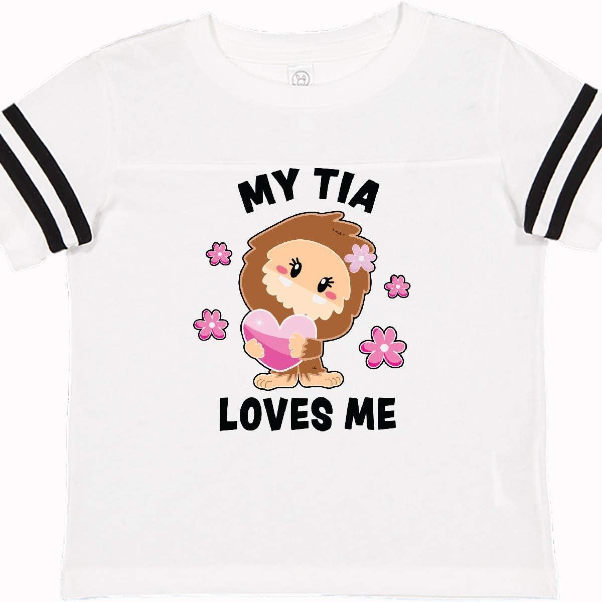 inktastic My Tia Loves Me with Bigfoot Toddler T-Shirt