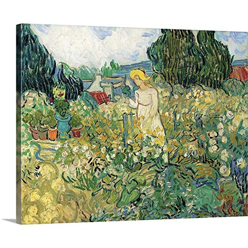 Mademoiselle Gachet in Her Garden at Auvers, by Vincent Van Gogh, 1890. Musee D'Orsay Canvas Wa.