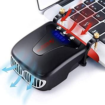 MQUPIN ventilador para ordenador portátil,refrigerador para portátil ...
