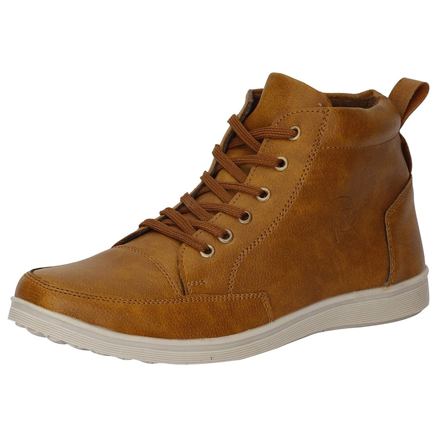 742e48f7dcbdc3 Kraasa Men s Faux Leather Sneaker  Buy Online at Low Prices in India ...