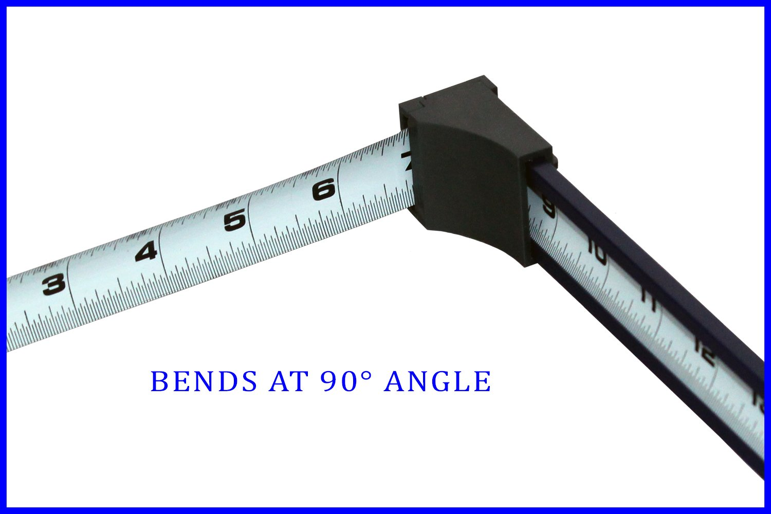 Zip Measure is a measuring tape designed to measure at 90 degree angles. This one of a kind tool measures up to 24''