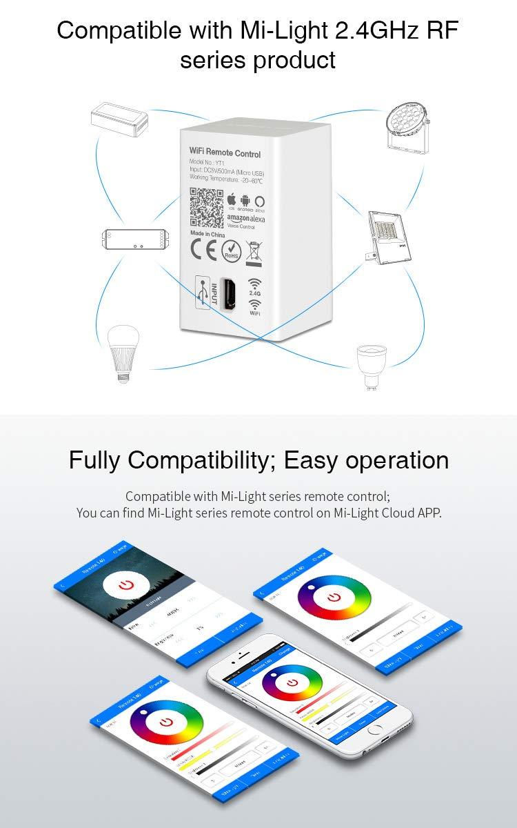 Amazon com: Mi Light YT1 WiFi Hub For Amazon Alexa Voice