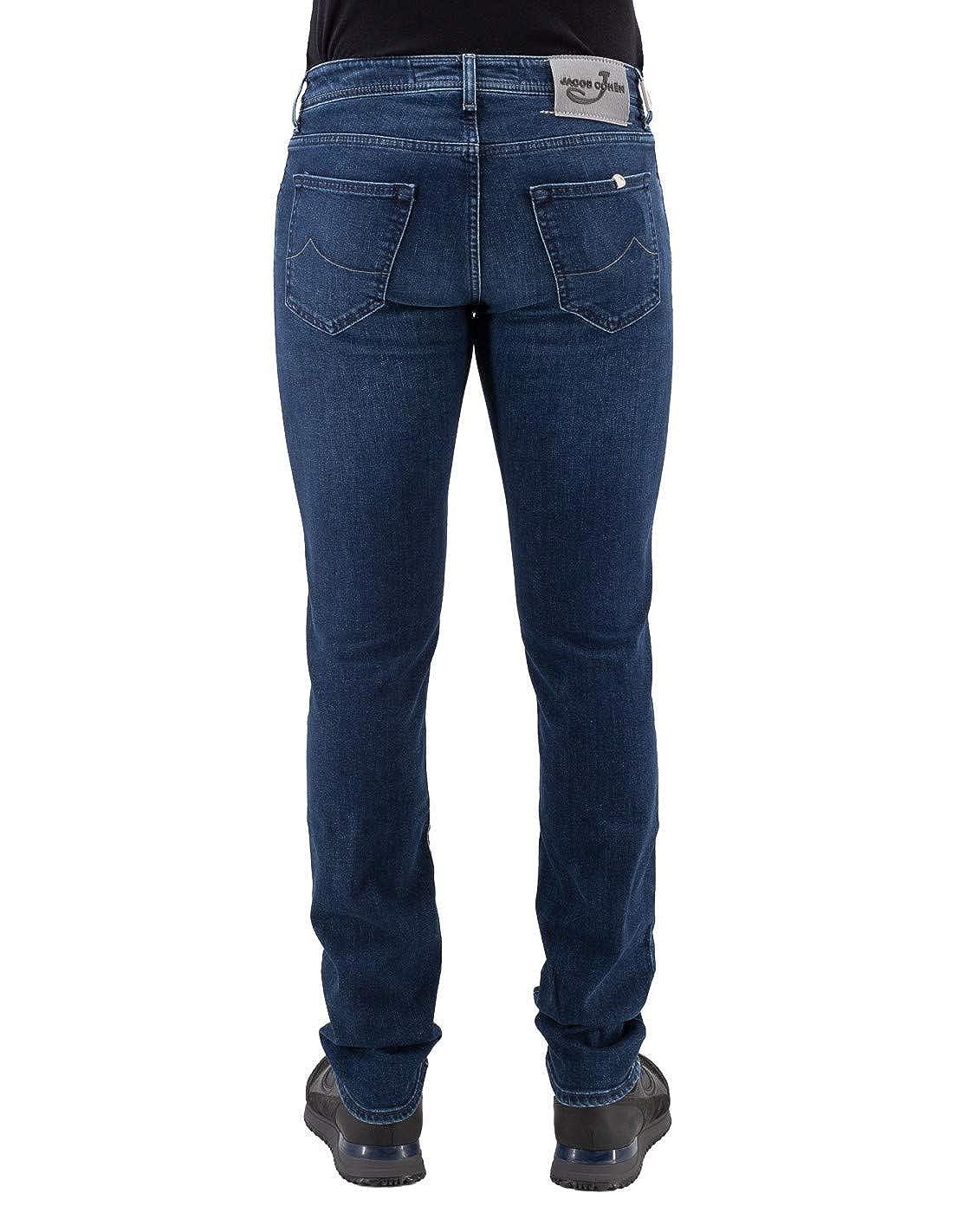 Jacob Cohen Jeans Cotone Cinque Tasche con Pochette