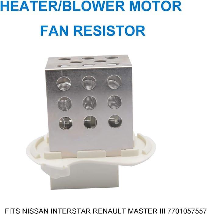 Maso - Resistencia de ventilador para motor de calefacción y soplador para Renault Master Nissan Interstar ...
