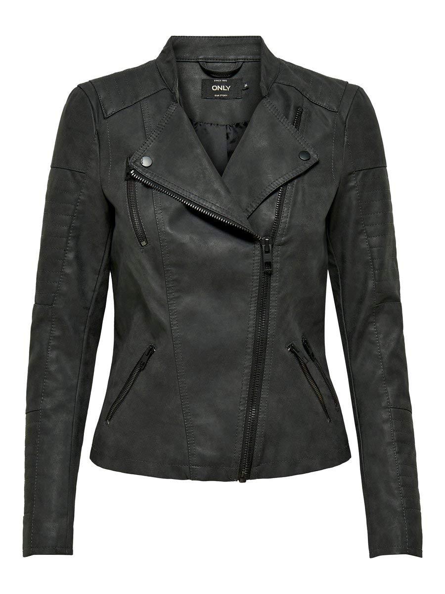 ONLY Women's Onlava Pu Biker OTW Noos Jacket