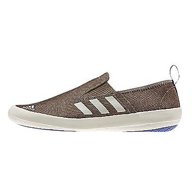 ef546712bf6b Adidas Boat Slip On DLX Sneaker Shoe - Grey Blend   Clear Brown   Night  Flash
