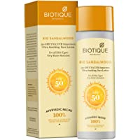 Biotique Bio Sandalwood Sunscreen Ultra Soothing Face Lotion, SPF 50+, 120ml