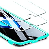 ESR Screen Protector for iPhone 8/7 [2 Pack] [Free Installation Frame], iPhone 8 Tempered Glass Screen Protector [Scratch Resistant] [Fingerprints Easy Wipe Off] for iPhone 8/7/6/6s 4.7 inch 2017