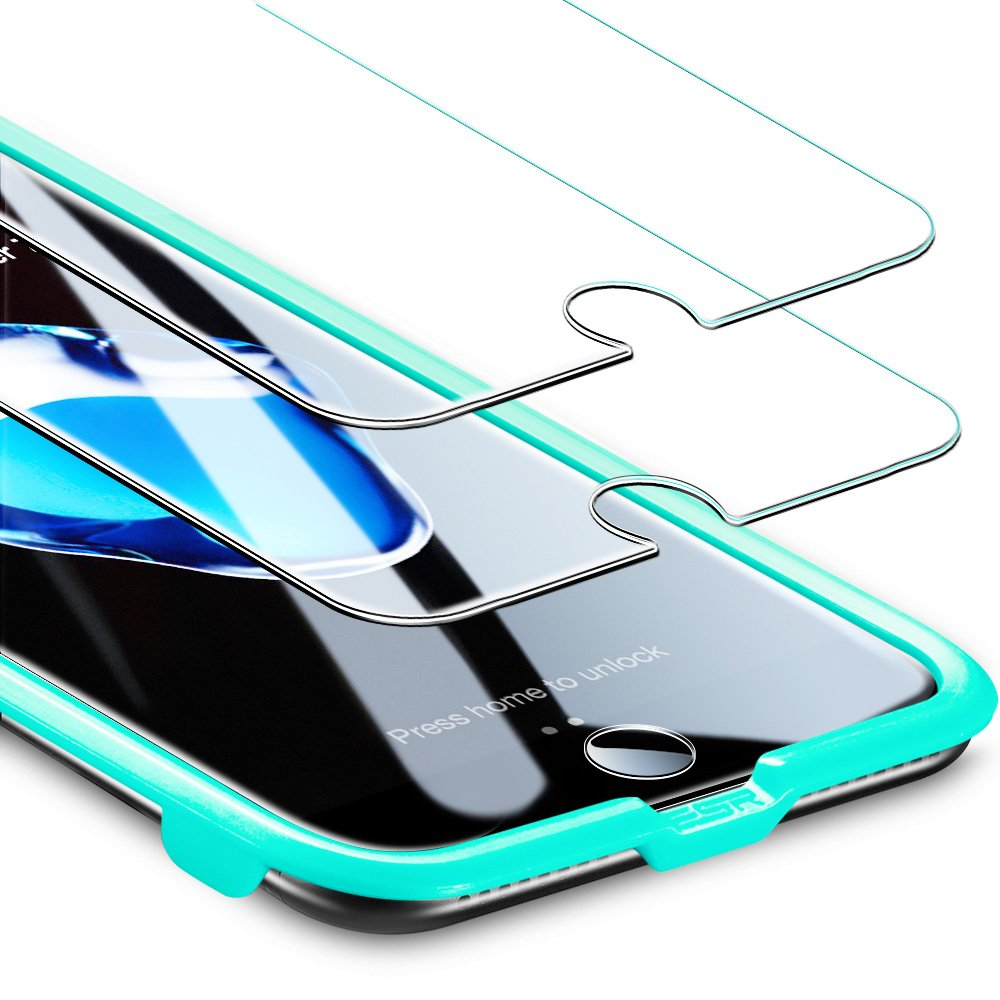 ESR iPhone 8/7 Screen Protector, [2-Pack] [Force Resistant Up to 22 Pounds] iPhone 8 Tempered Glass with [Free Self-Installation Kit], Anti-Scratch, Case Friendly for 2017 4.7-inch iPhone 8 7 6s 6 by esr