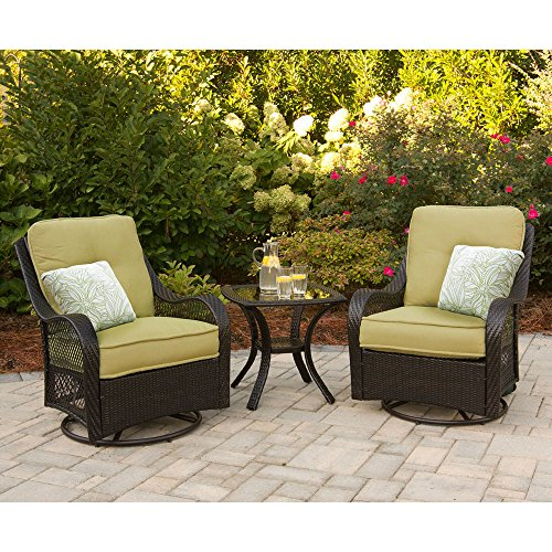 Hanover Orleans Series 3-Piece Lounge Set Green ORLEANS3PCSW