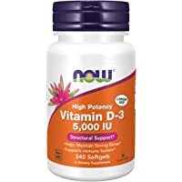 Foods Supplements Vitamin D3 5000 IU High Potency Structural Support Softgels, 240 Count, 1-Pack