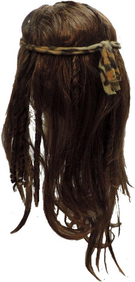 Mens Womens Brown Untamed Caveman Tarzan Barbarian Wig