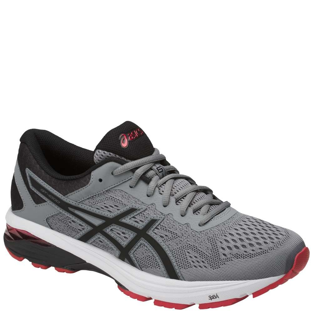 ASICS Men's GT-1000 6 Running schuhe, Stone grau schwarz rot, 12 D(M) US