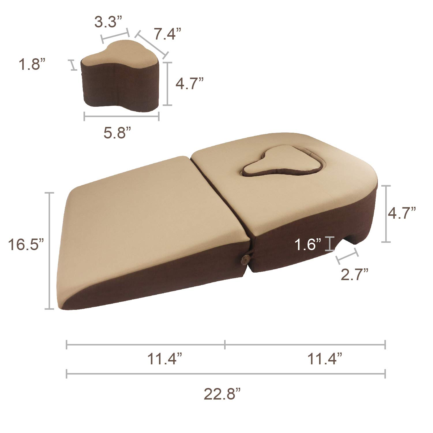 Prodigy TW Face Down Pillow, for Post-Eye-Surgery use,Wedge Cushion, Removable Cover by Prodigy TW (Image #4)