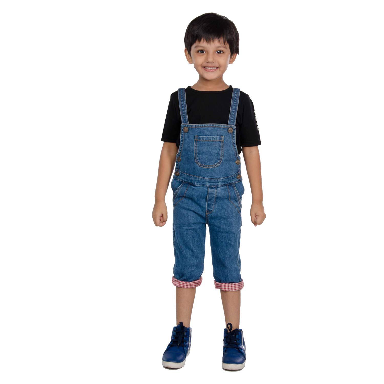 Buy Olele® Kids Denim Dungarees for Boys & Girls 2 to 12 Yrs (Unisex  Design) | Full Length Denim Dungaree for Boys & Girls | Jumpsuits for Kids  Boys | Denim Dungaree
