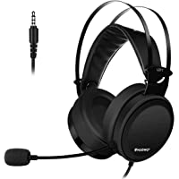 Lightweight PS4 3.5mm@4Pin Headset for Xbox One Headphones Wired Over Ear Surround Sound with Microphone Switch Stereo Bass Volume Control Noise Isolating for Laptop, Mac, Computer, Tablet