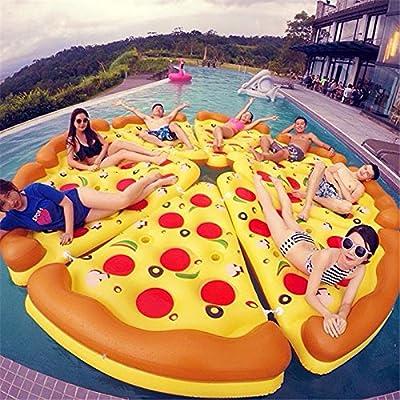 Flotador hinchable para pizza o pizza gigante para piscina, para ...