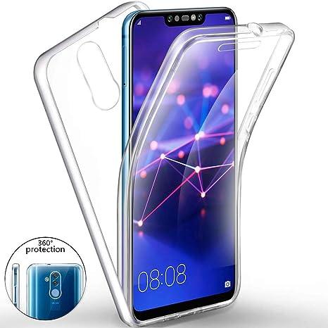 Funda para Xiaomi Pocophone F1 Silicona,Carcasas[Carcasa Protectora 360 Grados Full Body] Transparente Suave Ultrafina Gel Silicona TPU+PC Anti-Choque ...