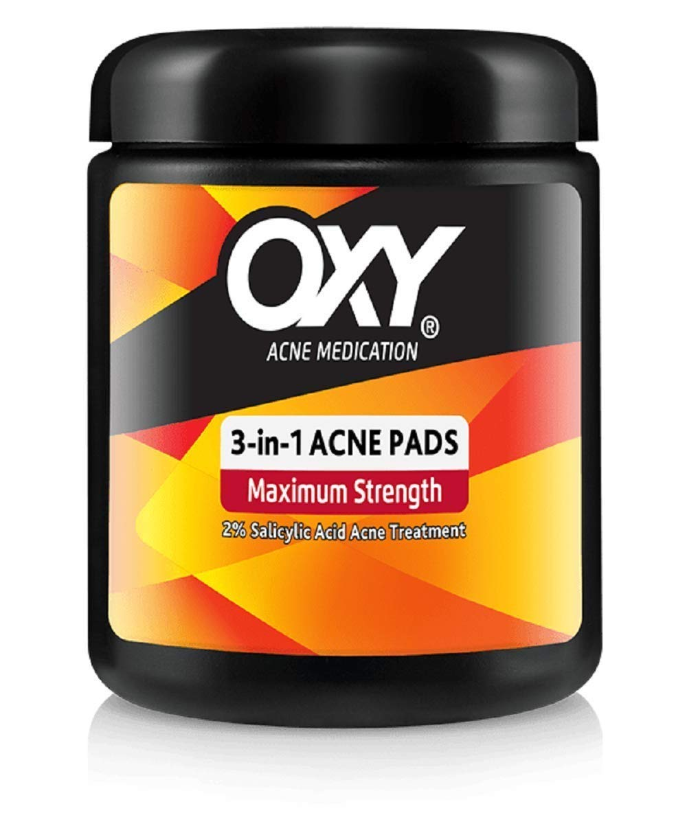 Oxy 3in1 Acne Medication Pads, 90 Pads (2 Packs)