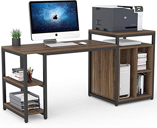 Escritorio Tribesigns para ordenador con estante de almacenamiento ...