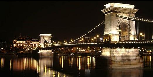 Startonight Canvas Wall Art Budapest Bridge