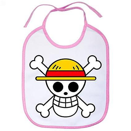 Babero One Piece logo - Rosa
