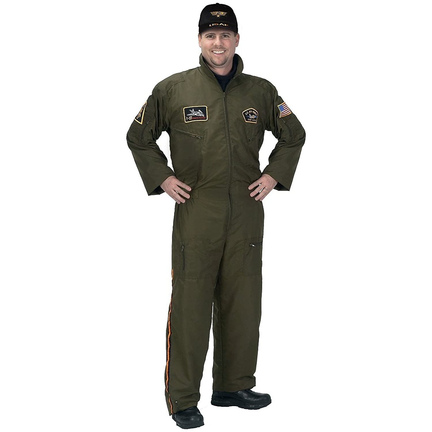 sc 1 st  Amazon.com & Amazon.com: Armed Forces Pilot Suit Adult Costume - Large: Clothing