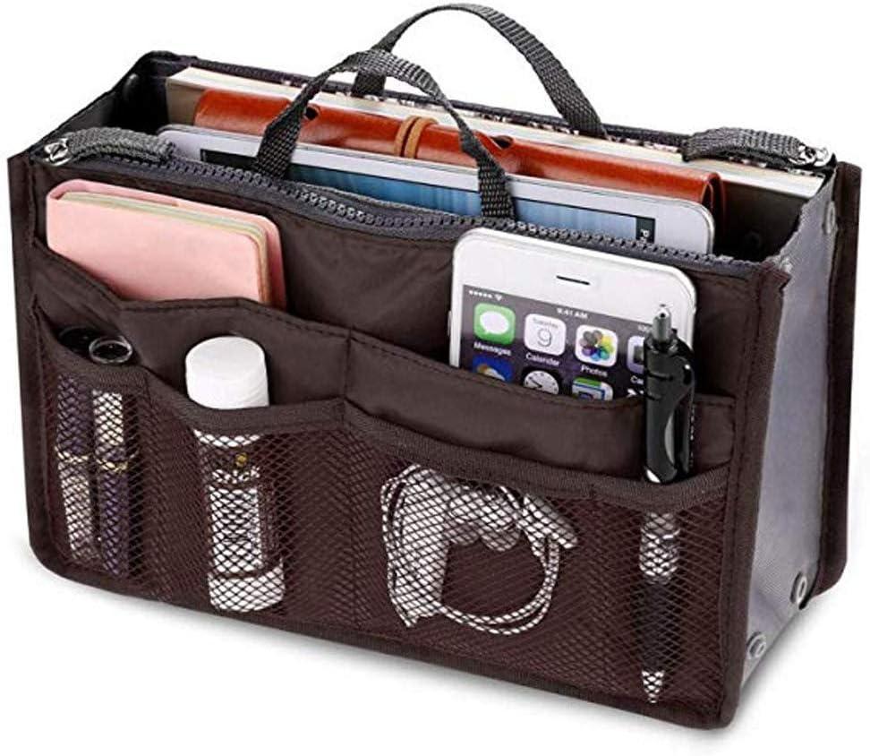 Felt Handbag Organizer Multi-Pockets Bag Tote Shaper Large Capacity Waterproof Storage Bag Glomixs Women Portable Organizer Bag Multifunction Travel Compartment Handbag