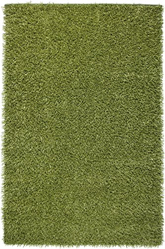 Chic Hand Tufted Rug - Rizzy Home Kempton Collection KM1508 Hand-Tufted Shag Area Rug 5' x 7' green