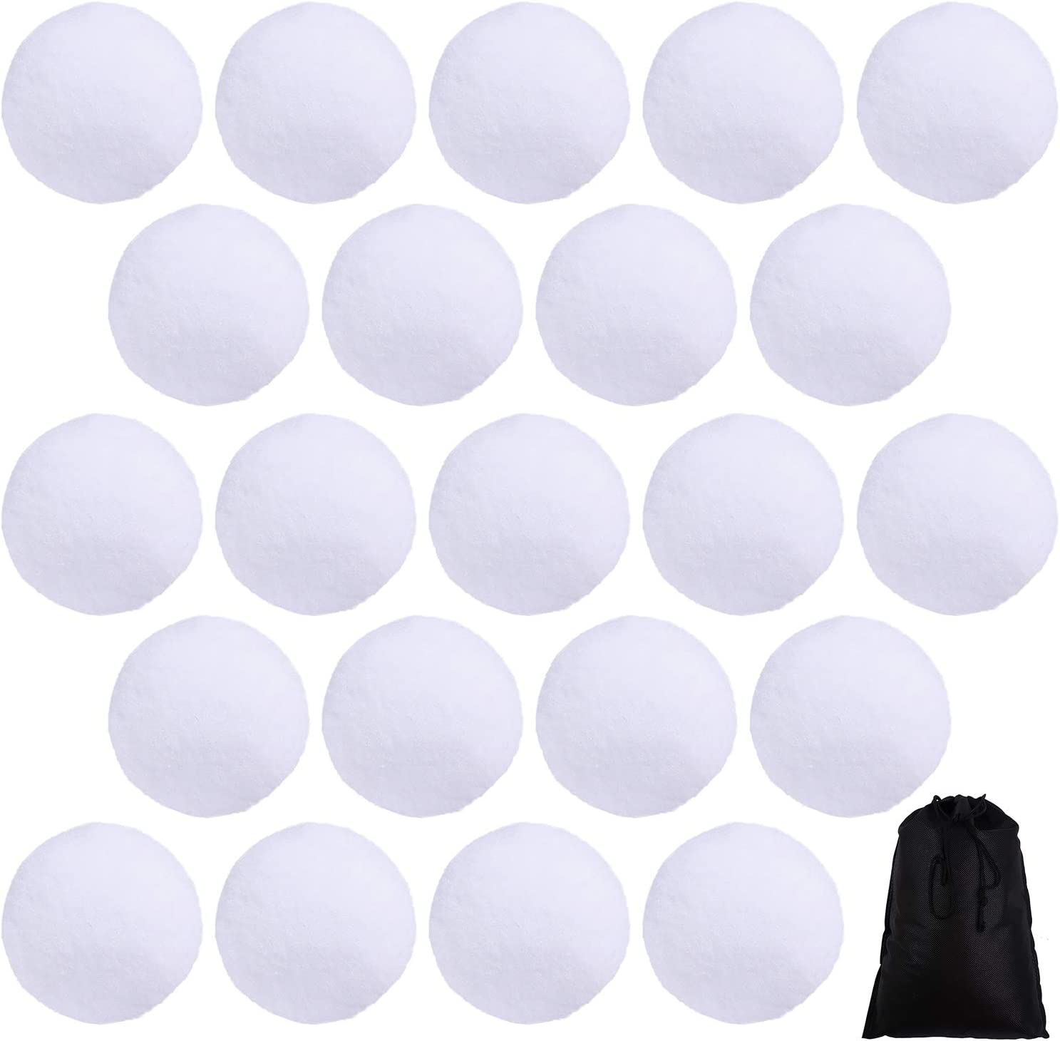Soft Fluffy White Indoor Snowballs for Indoor Snowball Fights
