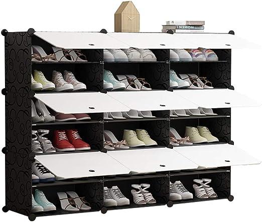 Gabinete de Zapatos de 6 Pisos con Estante para Zapatos, con Cremallera y Puerta corredera a Prueba de Polvo, Lavado con Espacio ahorrado Ailin Home (Tamaño : 126x31x96cm): Amazon.es: Hogar