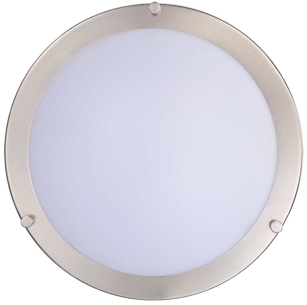Cloudy Bay LED Flush Mount Ceiling Light,10 inch,17W(120W Equivalent) Dimmable 1150lm,4000K Cool White,Brushed Nickel Round Lighting Fixture for Kitchen,Hallway,Bathroom,Stairwell by Cloudy Bay (Image #4)
