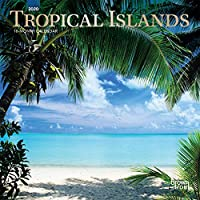 Tropical Islands 2020 7 x 7 Inch Monthly Mini Wall Calendar with Foil Stamped Cover, Scenic Travel Tropical Photography (English, Spanish and French Edition)