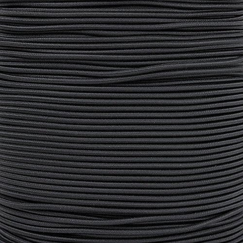 Paracord Planet 2.5mm Shock Cord - 8 Colors - 10, 25, 50, 100 Feet - Nylon Bungee Elastic Stretch Cord ()