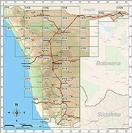 Namib Wüste Karte.Namibia Topographische Karte 1 250 000 Bl 2716 Ai Ais Huib