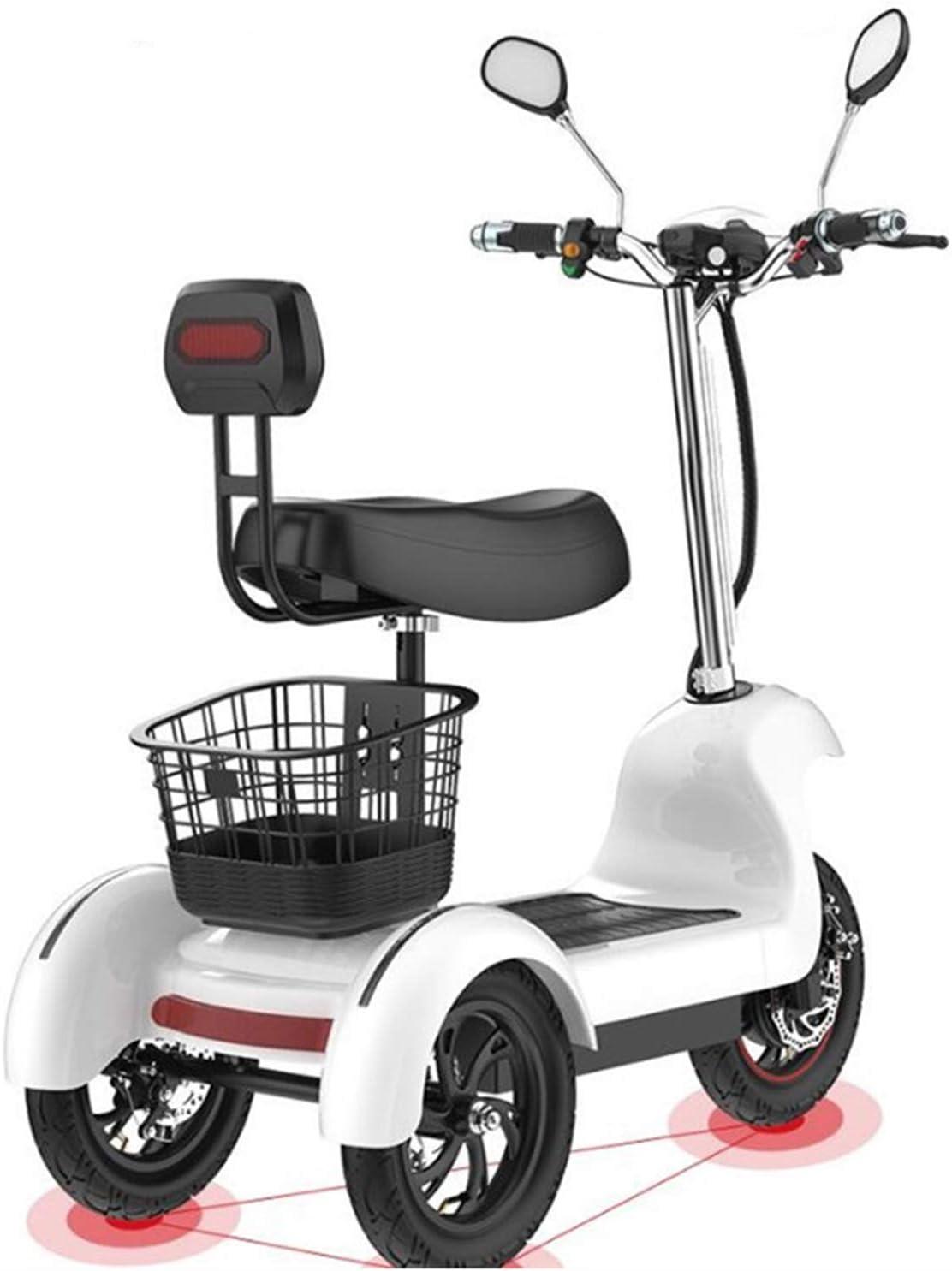 SZ-DDC Triciclo de Scooter eléctrico de Tres Ruedas Scooters eléctricos 12 Pulgadas 48V 500W portátiles Adultos Scooter eléctrico con Dos Asientos