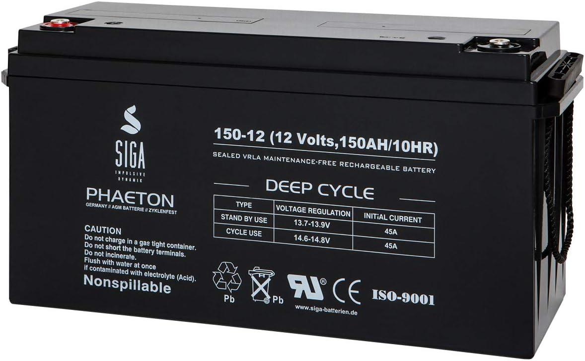Akku 150ah 160ah 12v Agm Gel Wohnmobil Batterie Elektronik