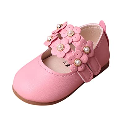 959ccbd4cab25 Janly® Baby Shoes, Girl Floral Sandals Sneaker Toddler Infant Pricness  Casual Single Shoes for 0-2 Years Old Kids