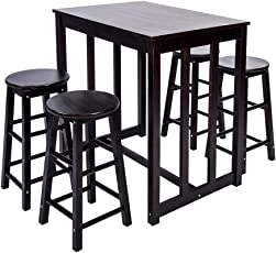 Merax 5-piece Dining Table Set High/Pub Table Set with 4 Bar Stools  sc 1 st  Amazon.com & Table \u0026 Chair Sets | Amazon.com