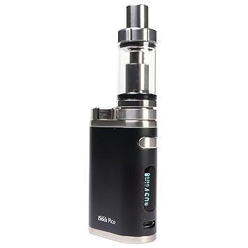 Takestop® Cigarrillo electrónico 75 W negro control temperatura svapo Mini Depósito Manzano III capacita
