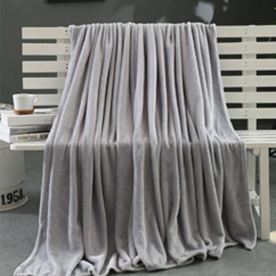 Luxury Fleece Super Soft Thermal Blanket Warm Fuzzy Microplush Lightweight Throw Blankets for Bed Sofa Bedroom Orange 70x100cm//28x40in